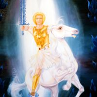 Archangel Michael on White Horse Thumbnail